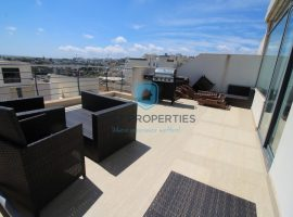 MELLIEHA - Furnished two bedroom penthouse with garage - For Sale